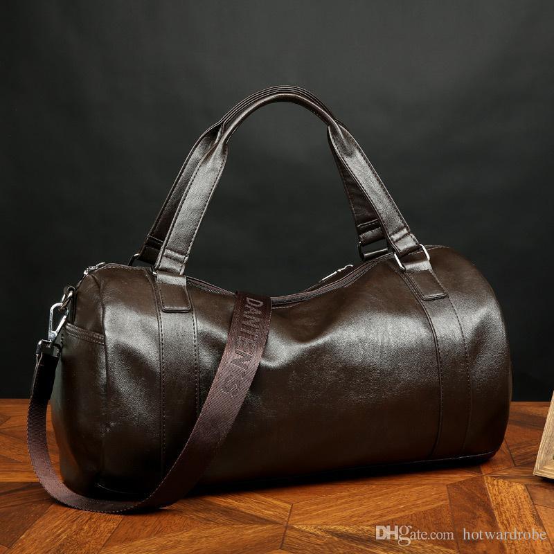 b9bb3bd195 SPORTSHUB Top PU Leather Men s Sports Bags Gym Bags Classic Sports ...
