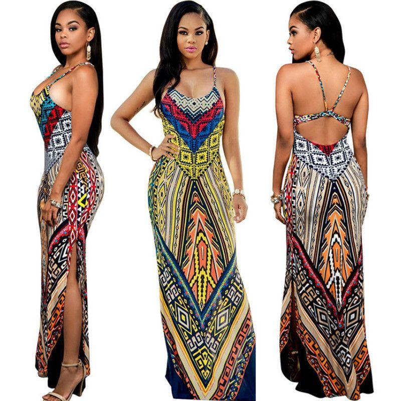 248da6d14d22 Women Summer Maxi Dress Long 2018 Ladies Party Dresses Femme Robe Sexy  Sundress Backless Bandage Boho Split Bodycon Dress Vestidos De Fiesta Summer  Lace ...
