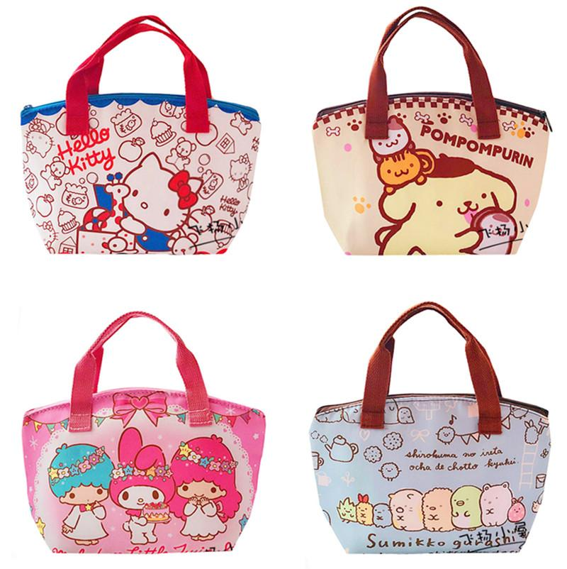 Cartoon Hello Kitty My Melody Kids Insulated Lunch Bag For Boys Girls Women  Tote Thermal Lunch Box Bag Cooler Picnic Bags Purse Rack Handbag Hanger  From ... e2322f66dc98d