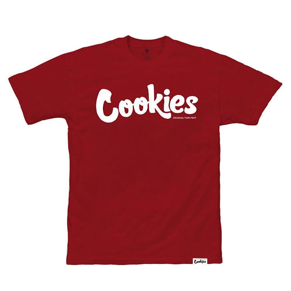 de437886c Cookies SF Berner Men's Thin Mint T Shirt Burgundy White Tee Clothing  Apparel