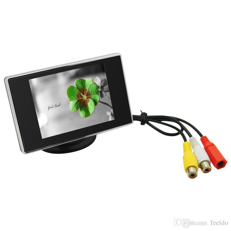 FEELDO 자동차 4 센서 주차 센서 3.5 인치 모니터 및 4-LED CCD 카메라 후면보기 반전 시스템 # 2760