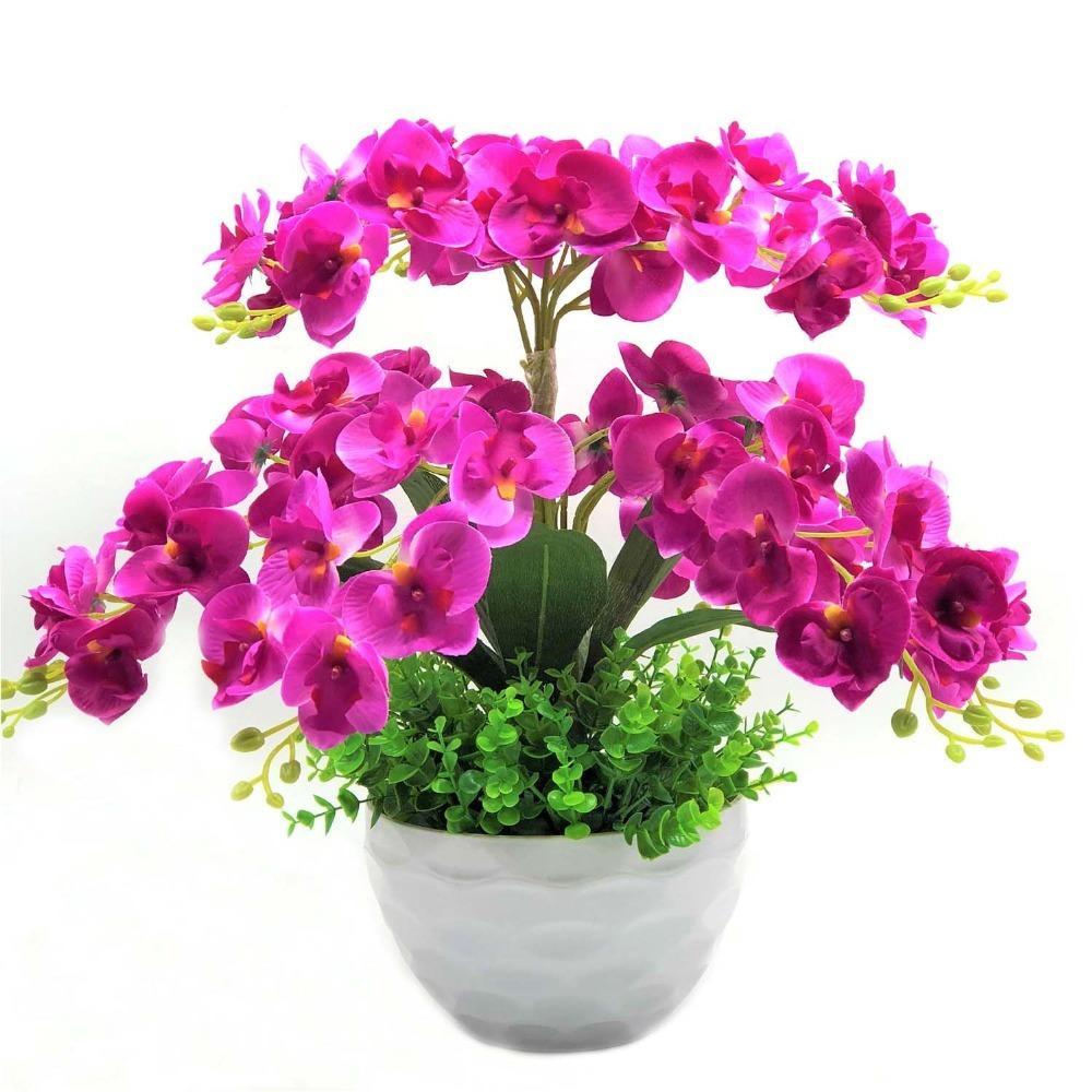 acheter papillon orchidée artificielle fleurs décoratives guirlandes