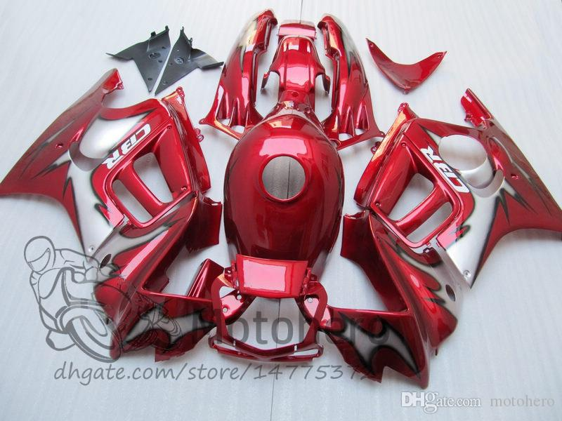 Fairing body kit for HONDA CBR600 F3 97 98 CBR 600 F3 1997 1998 CBR 600F3 97 98 Red Black custom fairings set S32323