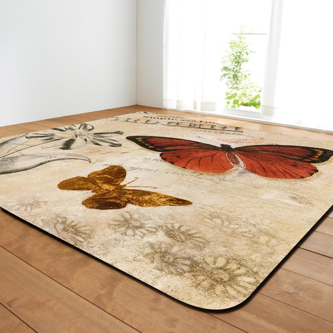 3D Butterfly Painting Carpets For The Modern Living Room Decor Non-slip  Home Rugs Great Room Sofa Table Floor Mats Bedroom Rugs