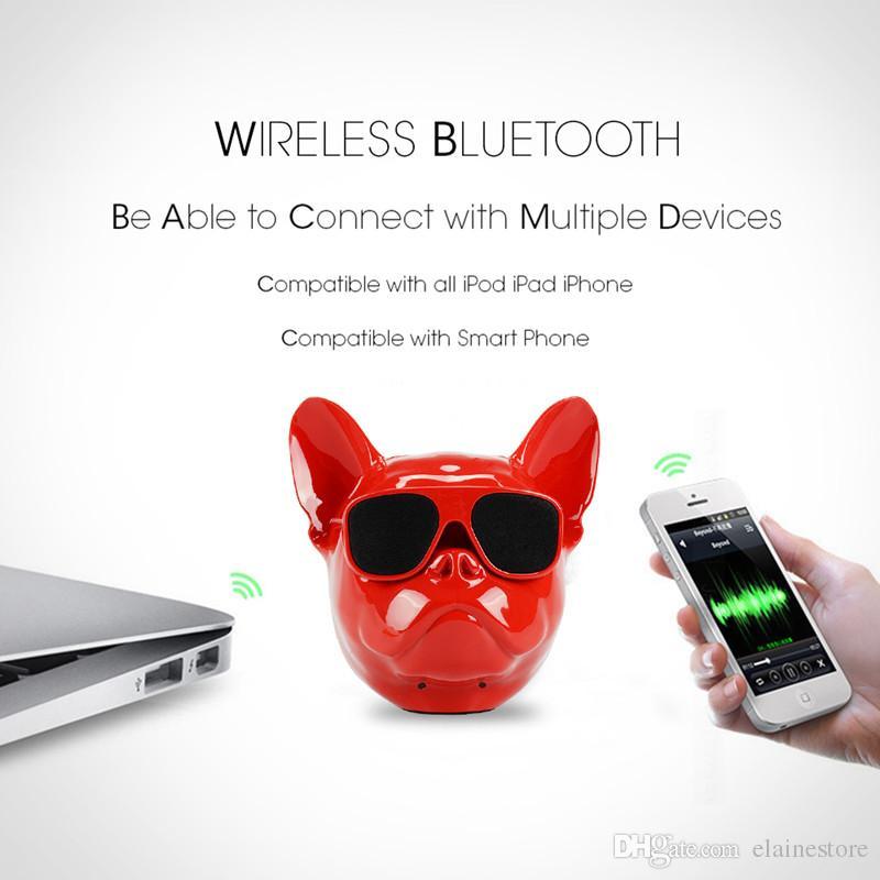 Mini altoparlante senza fili portatile di Bulldog dell'altoparlante altoparlante senza fili all'aperto di Bluetooth della carta di TF il migliore regalo di Samsung Samsung Tablet PC