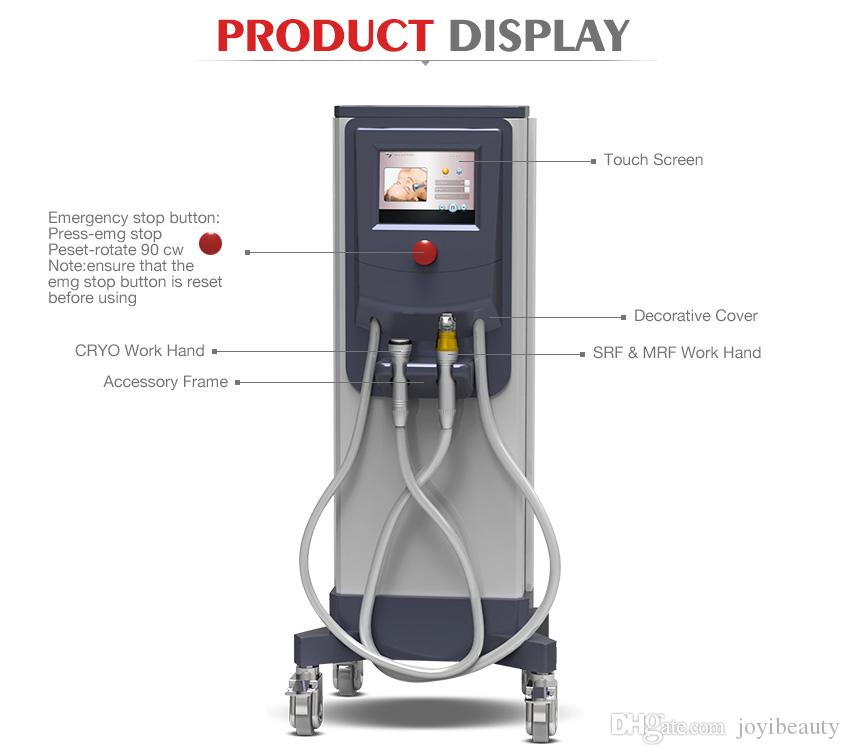 High Quality Multifunctional Cryotherapy Dot Matrix Superficial RF Radio Frequency Face Lift Massage Skin Tighten Care Beauty Machine