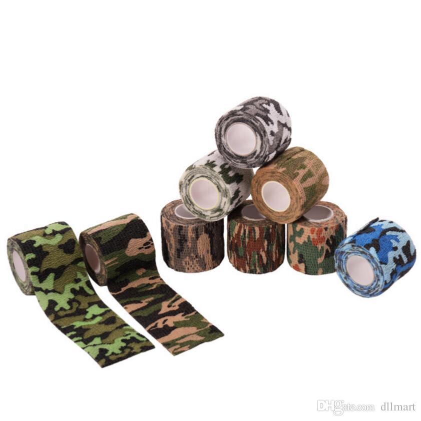Accessoires de tatouage 25mm Grip Wrap Camouflage Élastique Bandage Poignée Tube Jetable Non-tissé Auto-Adhérent Fournitures De Tatouage 24 rouleaux