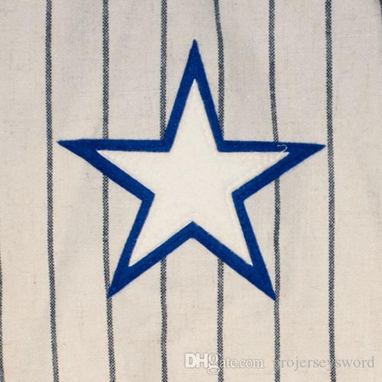 Louis Yıldız 1931 Ev Jersey 100% Dikişli Nakış Logoları Vintage Beyzbol Formaları Özel Herhangi Bir Adı Herhangi Bir Numara Ücretsiz Kargo