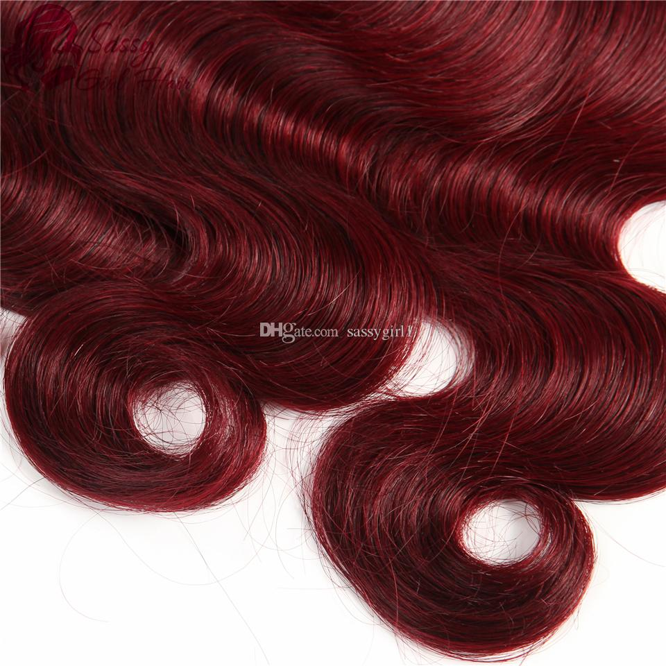 Brazilian Body Wave Weave Virgin Human Hair Extensions 1B/99J# Ombre Virgin Hair Products Peruvian Body Wave Malaysian Virgin Hair