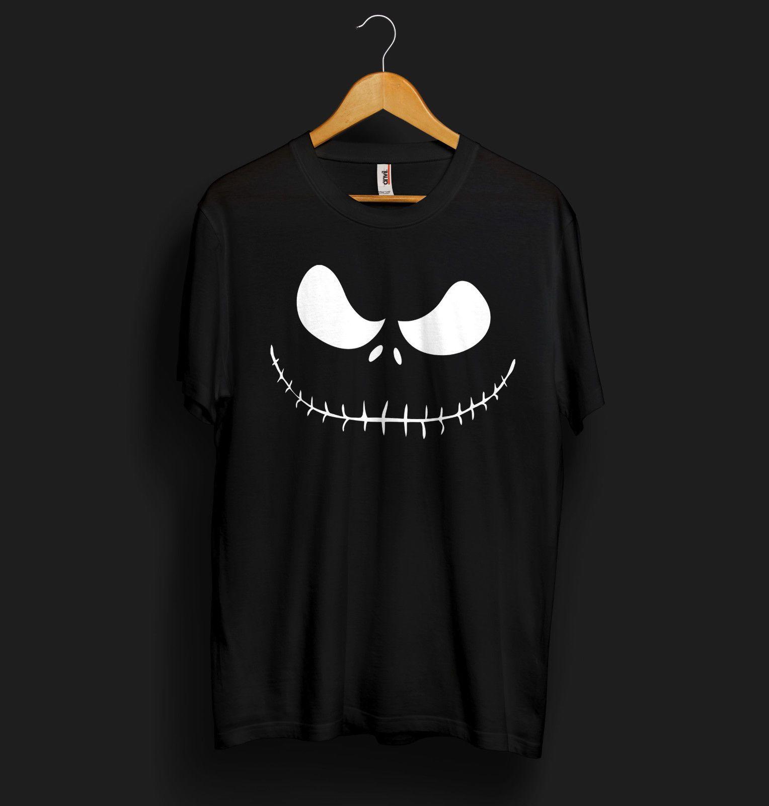Halloween Jack Skellington Scary.Jack Skellington T Shirt Face Head Pumpkin Halloween Scary Monster Kids Costumefunny Free Shipping Casual Tee