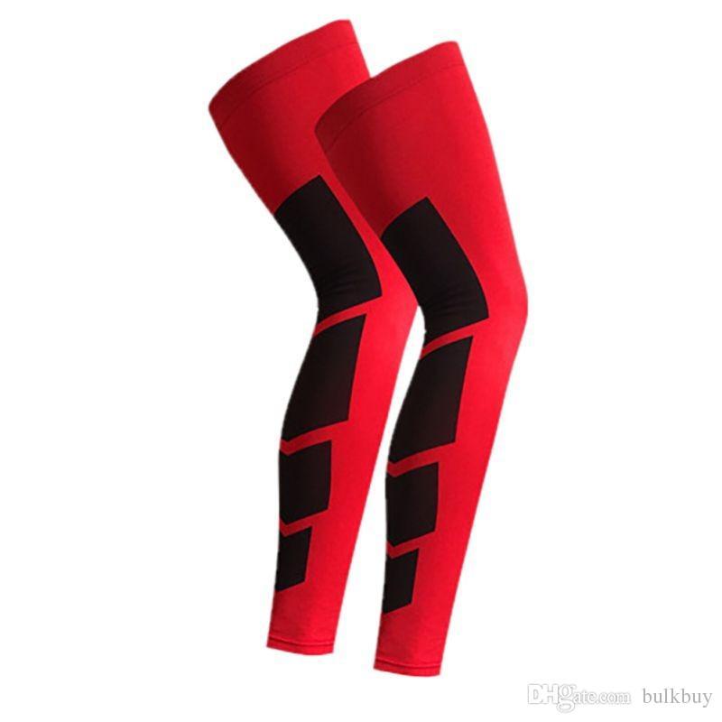 Outdoor Sport Ciclismo ginocchio della gamba maniche lunghe Protector Gear prova di blocco antiscivolo Legwarmers