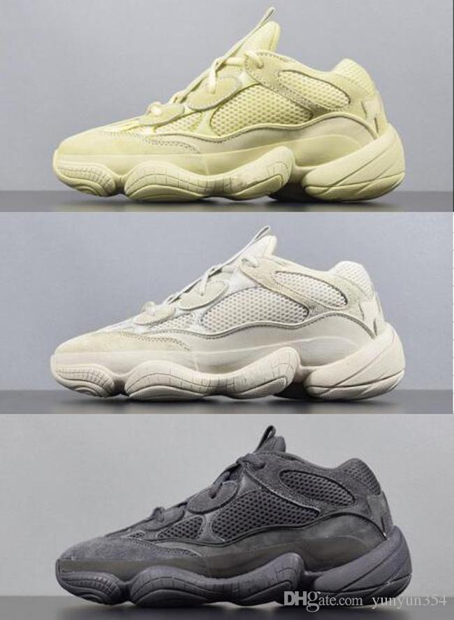 0b3d7ce71eaa9 2018 Kanye West 500 700 Desert Rat Moon Yellow Running Shoes Cow Leather  Mens Running Shoes Sneakers Sport Casual Shoe Online with  107.25 Pair on  ...
