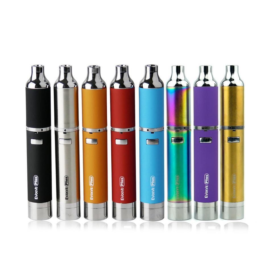 Yocan Evolve Plus Starter Kits con 1100mAh Wax vape Pen Quartz Dual Coil Reemplazo de bobinas Evolve Vaporizer Pen E cigarette