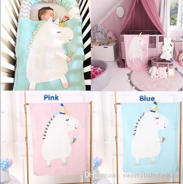 Acheter Licorne Mignon Tricot Couverture Nouveau Ne Bebe Enfants