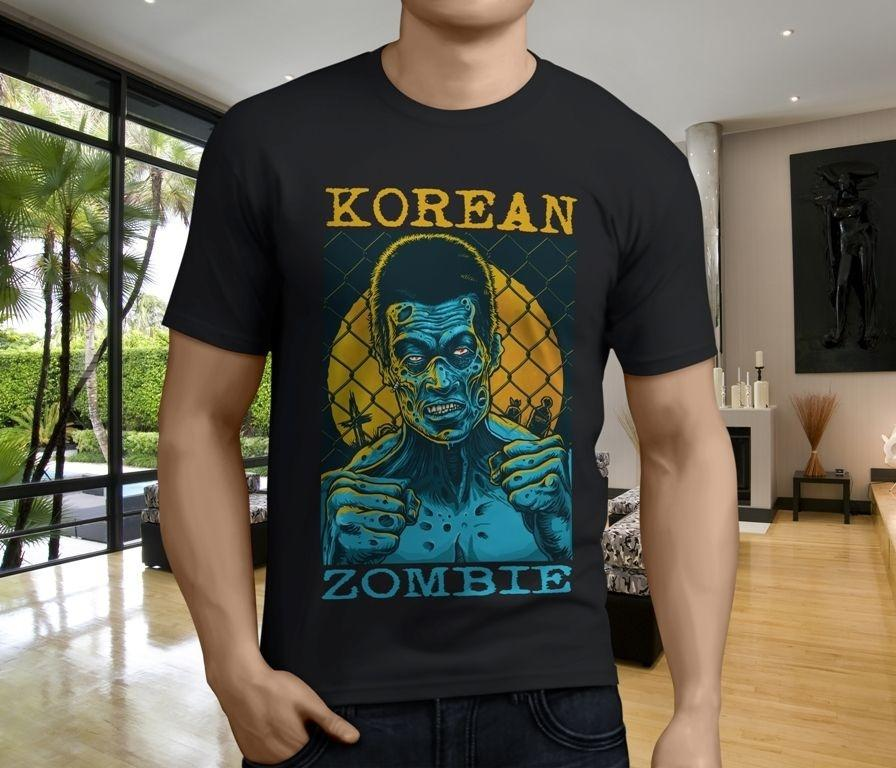 Shirt Maker Broadcloth O - Neck Short - Sleeve New Korean Zombie Chan Sung Jung Men's Black T-shirt T Shirt For Men