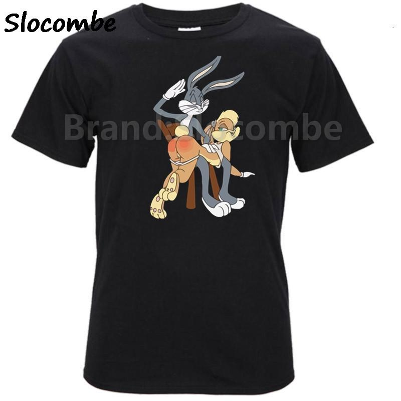 2806282ca Rabbit Bunny And Lola T Shirt Men And Women Bugs Cartoon T Shirt Size XS  XXL Interesting Tee Shirts Shop For T Shirts From Beenni