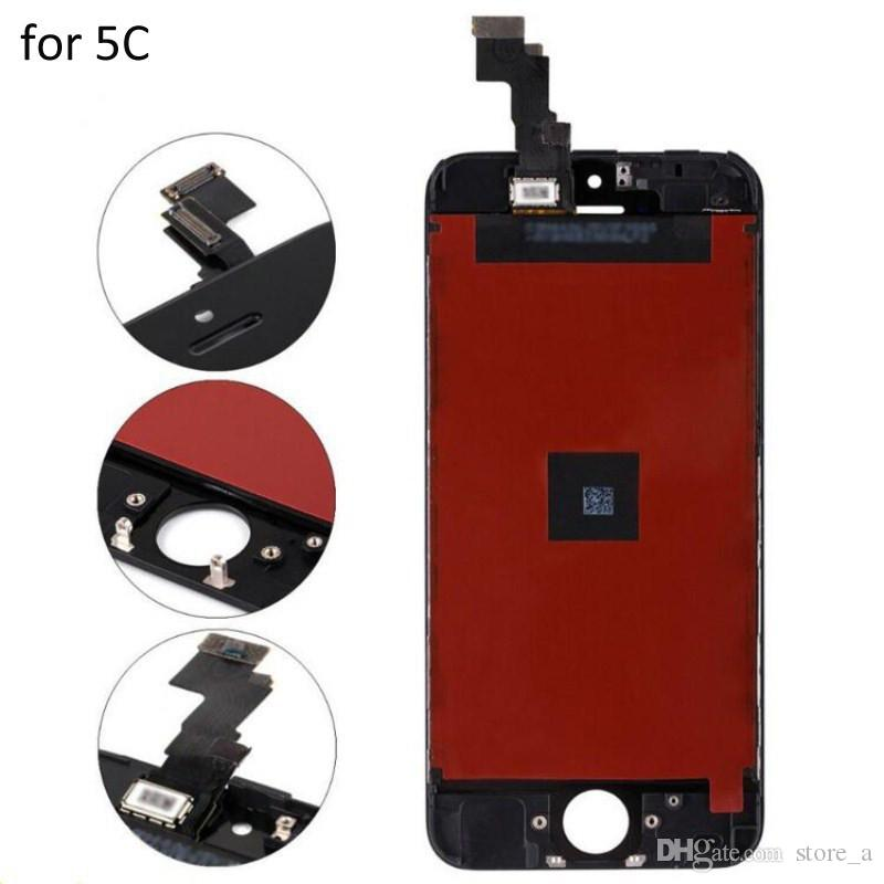 Grade A+++ for iPhone 5 5C 5S LCD Display Touch Screen Digitizer Full Assembly with Frame Black White
