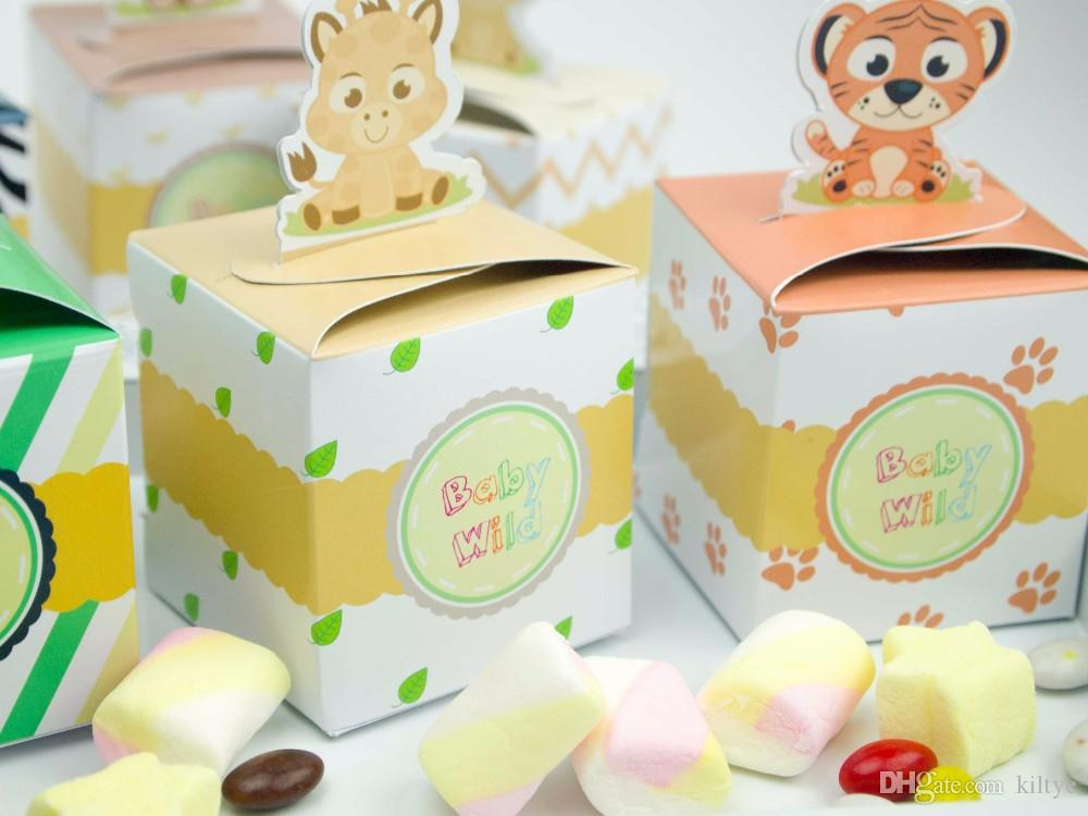 Wholesale Baby Shower Favors Safari Animal Wild Jungle Favor Box