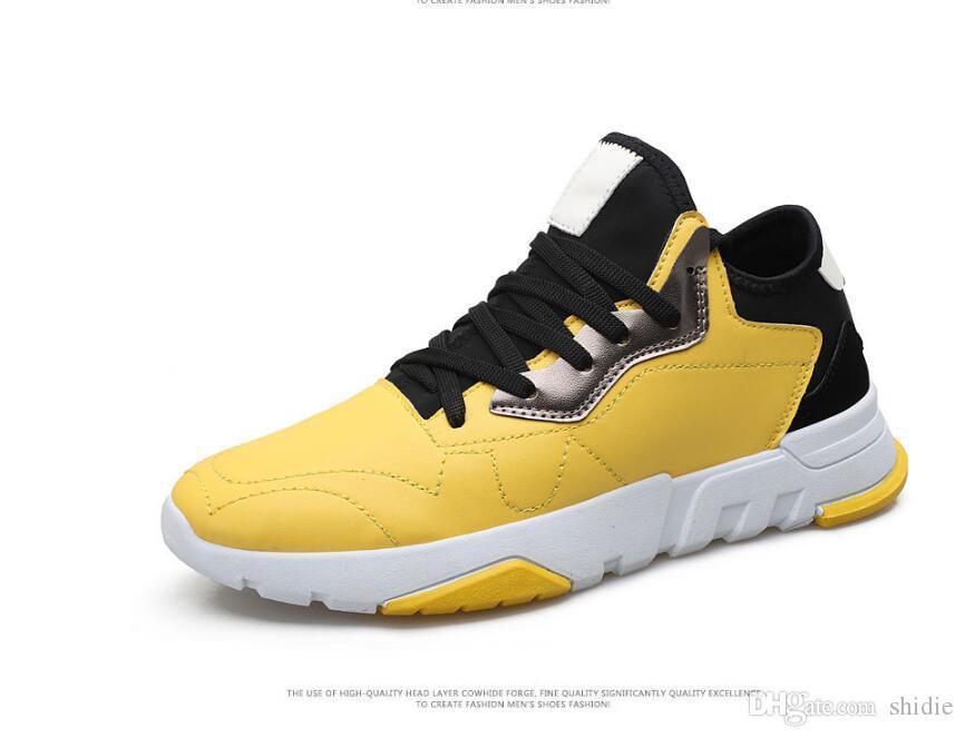 Compre 2018 Outono E Inverno Esportes E Lazer Sapatos Masculinos Coreano  Moda Plana Baixo Para Ajudar Os Alunos Cor Respirável Sapatos Para Homens  Frete ... 761cbe6901610