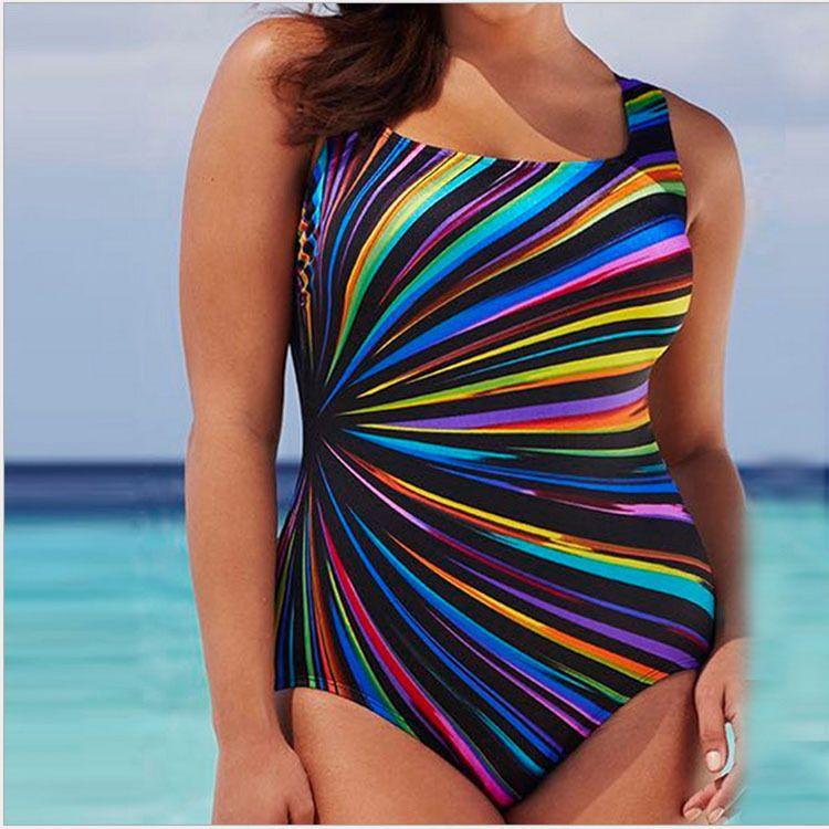 086d8847ce 2019 Elliehouse 5XL Large Big Plus Size Swimwear For Women Sexy One Piece  Swimsuit 2018 Slimming Female Print Retro Beach Bathing Suit Bodysuit From  ...