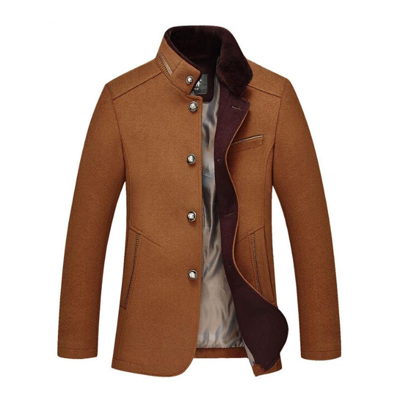 Men's Wool Coats & Jackets Winter Cashmere Jacket Man Long Section Single Breasted Overcoat Turn-down Collar fashion Woolen Coat