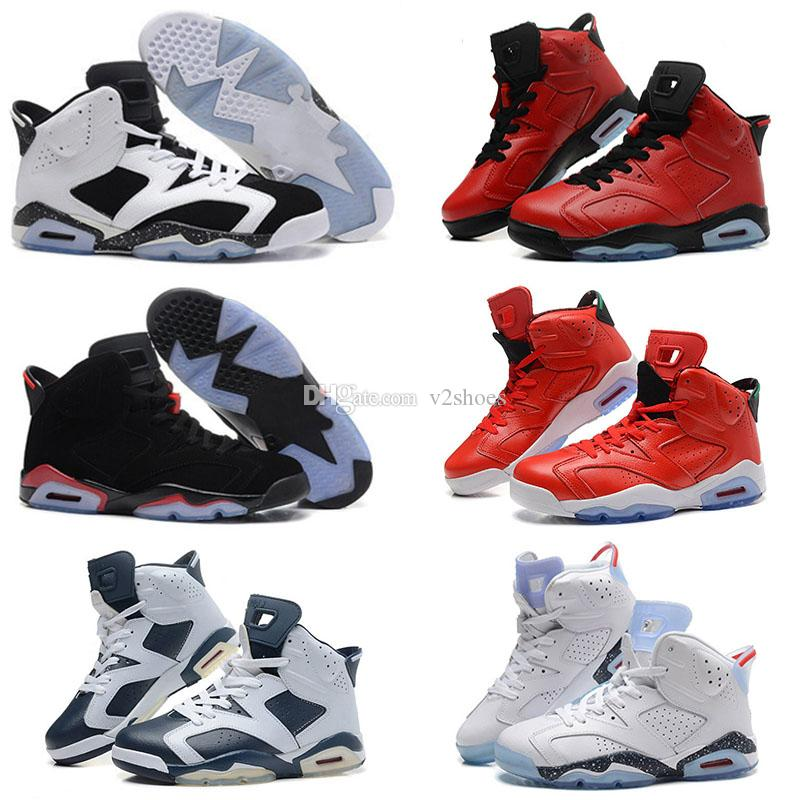 c78912c398a0c0 2018 New High Quality 6 Men Basketball Shoes Carmine Infrared Sport ...