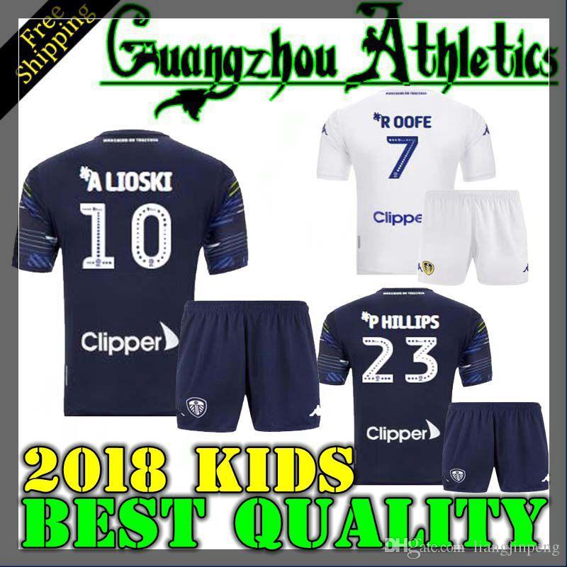 6fc4e02b537 18 19 Camisetas De Kits Para Niños Del Leeds United 2018 2019 Camisetas De  Niño Del Leeds Home Home ALIOSKI JANSSON BAMFORD COOPER SAIZ ROOFE Camiseta  De ...