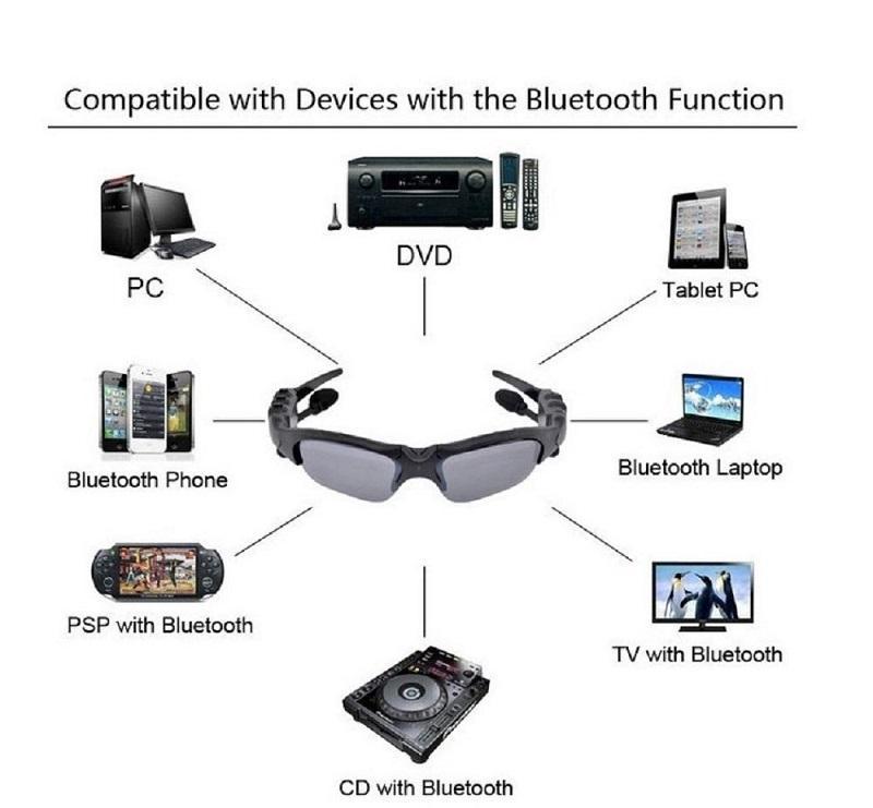 Bluetooth Sonnenbrille Kopfhörer Headset Wireless Sports Kopfhörer Sunglass Stereo Handsfree Kopfhörer mp3 Musik Player 4 Farben