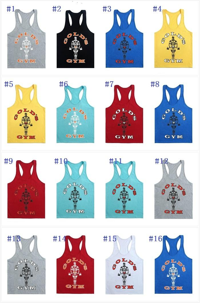 5192a34a4 Gold's GYM Men Fitness Vest Stringer Cotton Tank Top Singlet Bodybuilding  Sport Gym Vest Muscle 17 Styles in Stock Online with $6.51/Piece on Air11's  Store ...