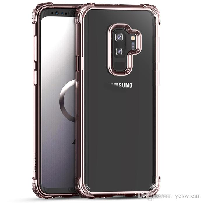 another chance 561d8 5519f iPaky Case For Samsung Galaxy S9 Plus Transparent Back Cover S9 2 In 1 PC  TPU Hybrid Drop-proof Hard Soft Cases With Package Stock