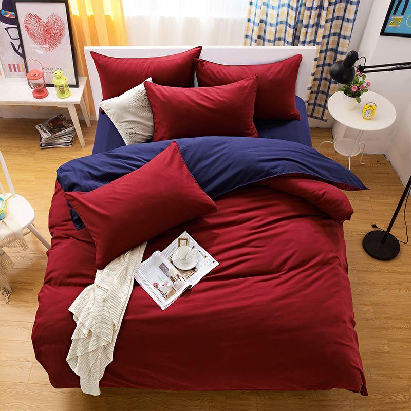 Großhandel Bettwäsche Set Bettwäsche Aloe Vera Farbe Reine Farbe