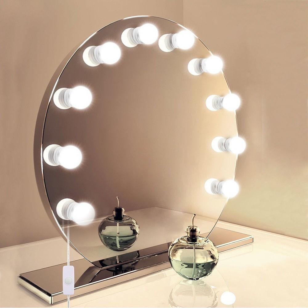 2019 10 Leds Makeup Mirror Light Bulbs Adjustable Lamp For Bedroom