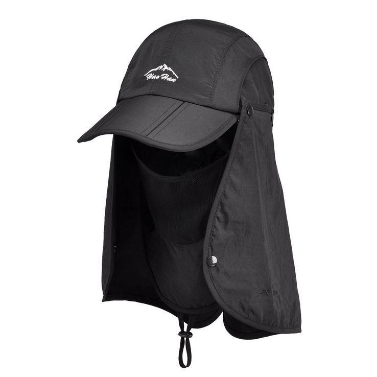 2f376f48 Wholesale Retail 2015 New Sports Sun Mesh With Mask String Flap Cap Hat For  Men Women Hunting Fishing UV Protection Foldable Custom Fitted Hats Design  Your ...