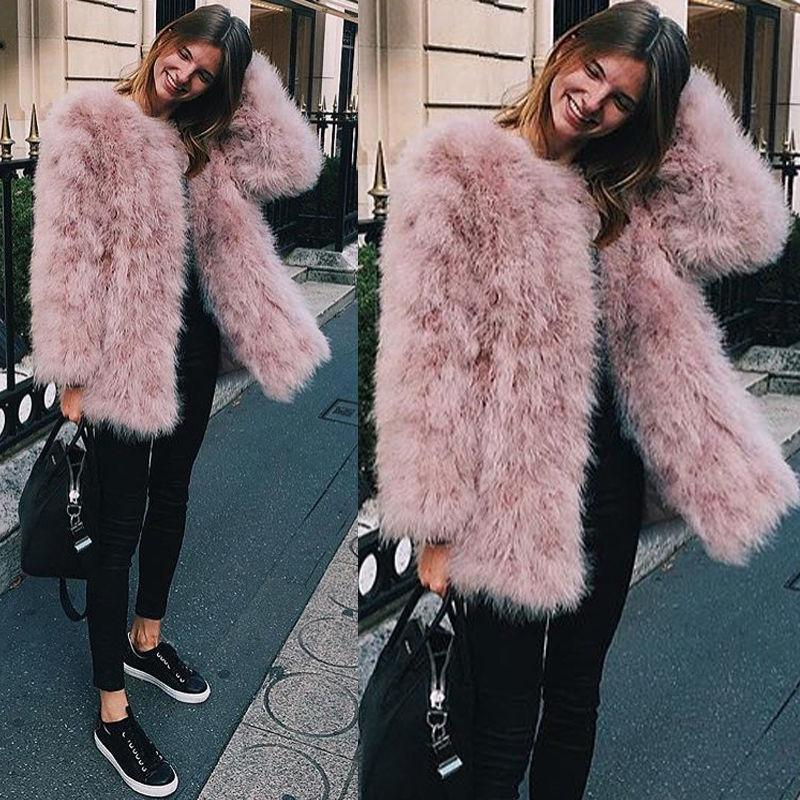 f08306a9d17 Blush/White X Long Women 2017 Real Fur Coat Genuine Ostrich Feather Fur  Winter Jacket For Weddings Retail / Wholesale Quality S18101301 Jacket  Bomber Jacket ...
