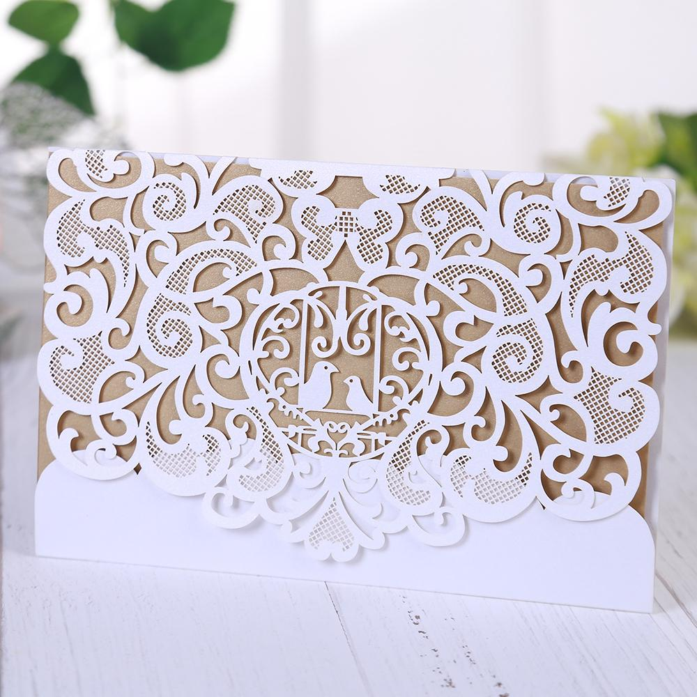 Lovely Bird Decoration Hollow Out Wedding Table Cards ,Mr Mrs ...