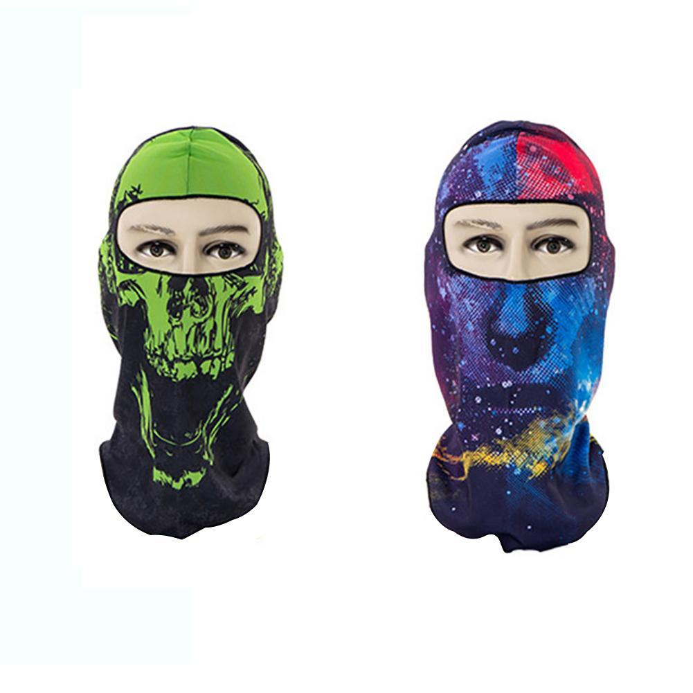 2018 Creative Riding Mask Multi-Functional Suns-Protective Print Skeleton Head Cap For Bicycling Outdoor Sports