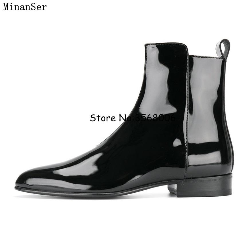Black Gray Brown Suede Leather Men Boots High Quality Ankle Boots Round Toe  Rome Style Man Shoes Autumn Spring Footwear