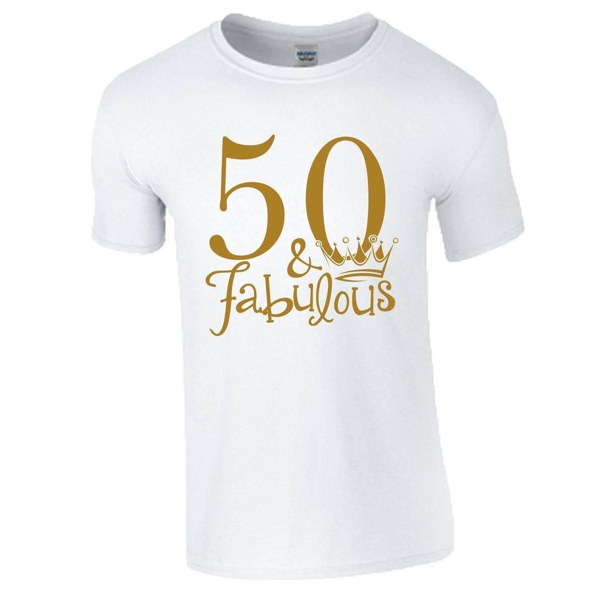 50th Birthday Gift T Shirt Made In 1968 King Queen 50 Fabulous Crown Mens Ladies Funny Slogan Shirts Cool Design From Amesion2504 1208