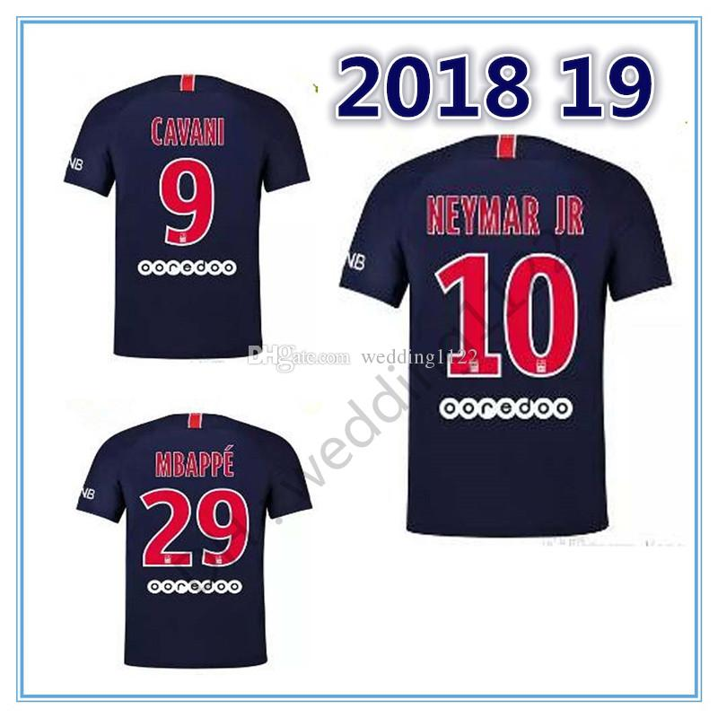 f86c119db11 Best 2018 Home Soccer Jerseys Adult NEYMAR JR DANI ALVES MBAPPE 18 ...