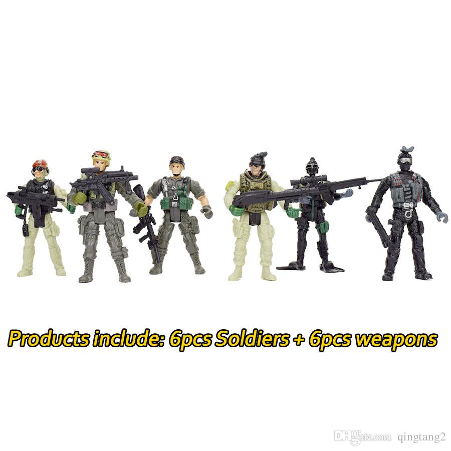 360 Degree Rotatable Removable American Soldiers Military Model Toys Gifts For Kids Teens Military Army Combat Game For Boys Model Toy Military Action ...