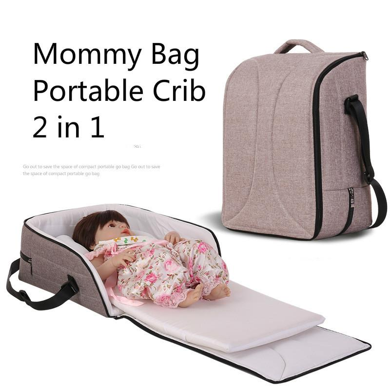 2018 Portable Outdoor Baby Crib Bed Travelling Diaper Bag Infant Safety Cradles Folding Mommy Mummy