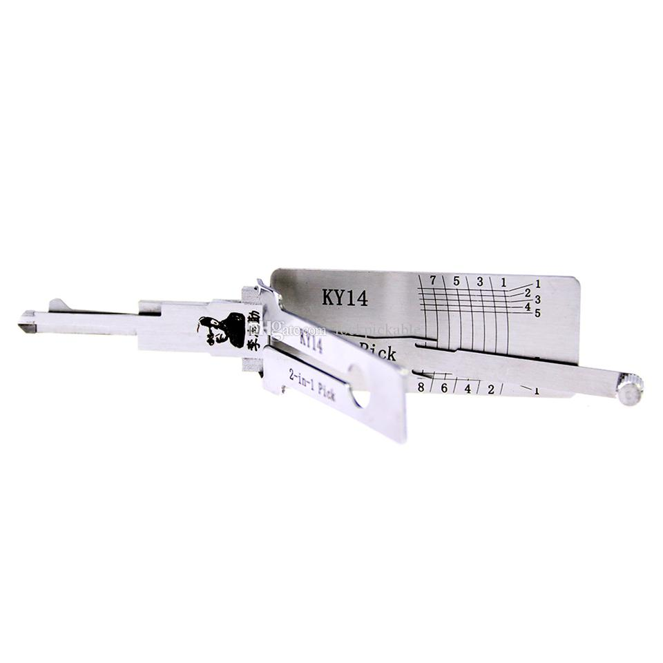 Decodificador y selección del original Lishi KY14 2in1 del Sr. Li - Las mejores cerraduras automotrices Desbloquean herramientas en el mercado