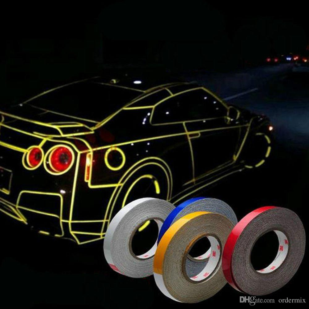 Car Sticker Reflective Tape Sheeting Film Automotive Body Motorcycle Decoration Waterproof Auto Motor Color Strip Styling