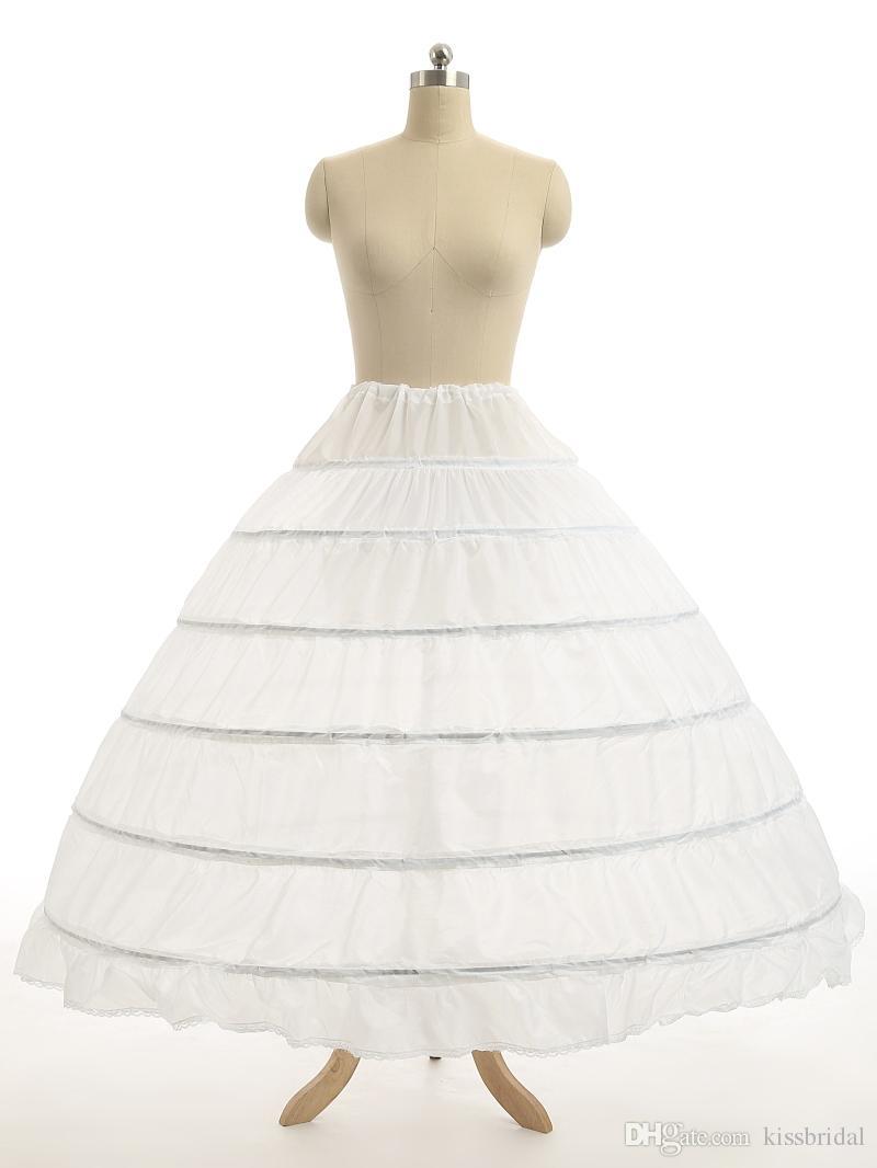 092d830198 Super Cheap Ball Gown 6 Hoops Petticoat Wedding Slip Crinoline Bridal  Underskirt Layes Slip 6 Hoop Skirt Crinoline For Quinceanera Dress
