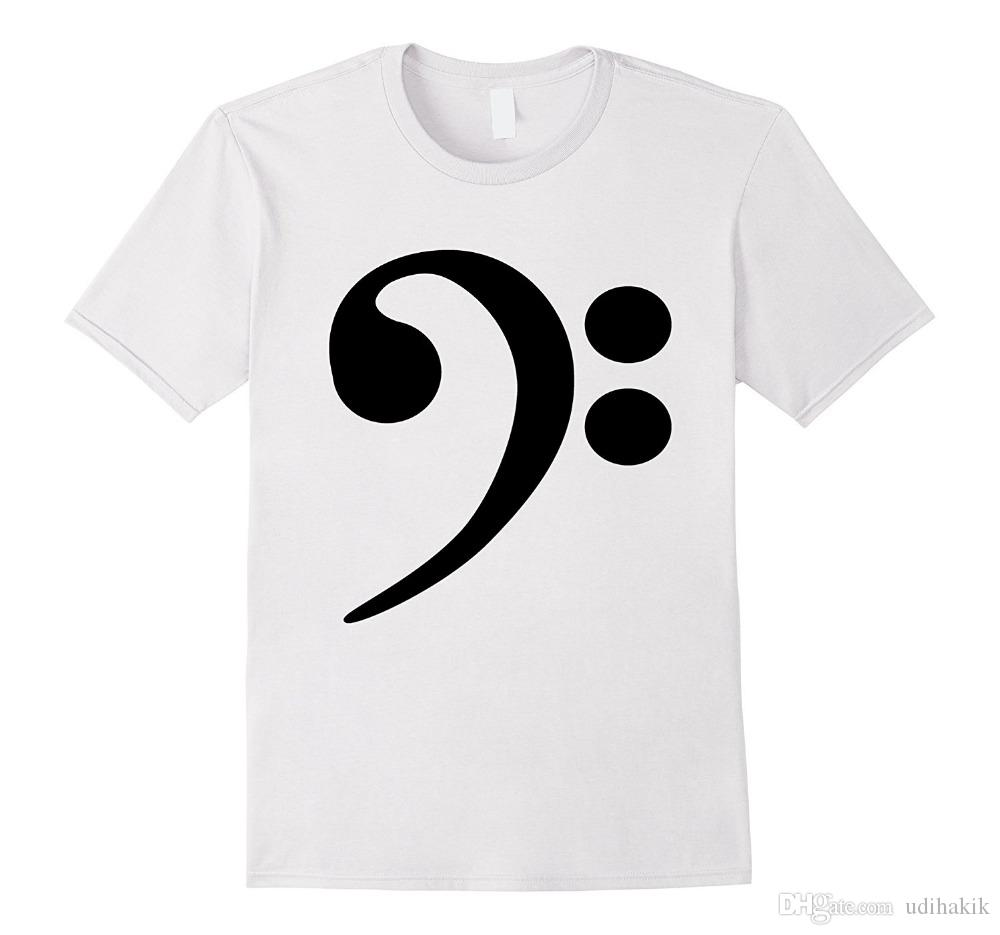 58ffe733c Bass Clef T Shirt Music Note Guitar Instrument Graphic Tee 2018 New Summer T  Shirts Coolest Shirt Tees T Shirts From Teestoreonline, $10.67| DHgate.Com