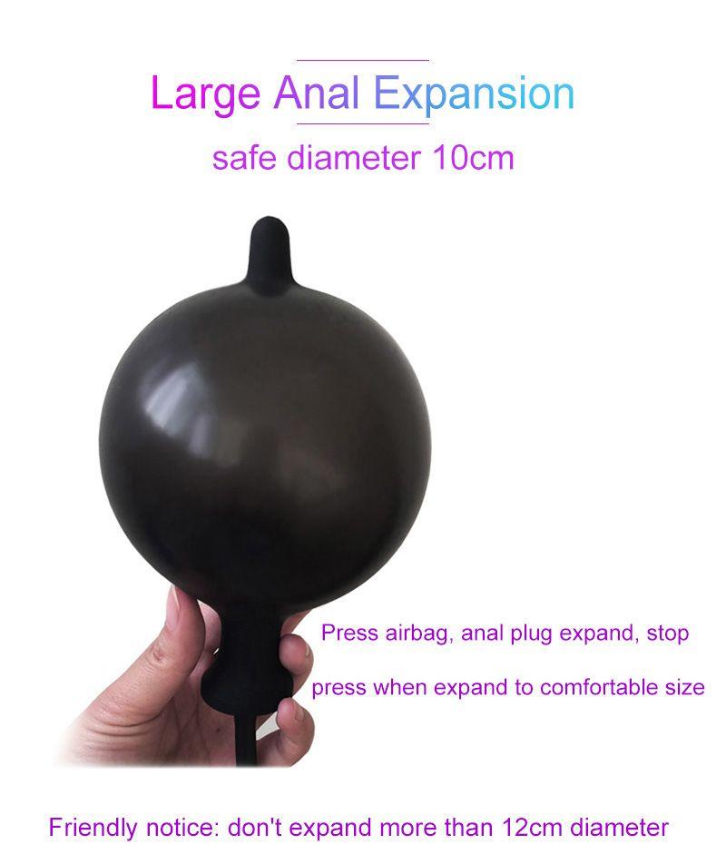 Dult Diário Silicone Inflável Anal Plug Anal Dilator Expansível Inflável Anal Plugues Anal Dildo Sex Toys Para Mulheres Homens Gay