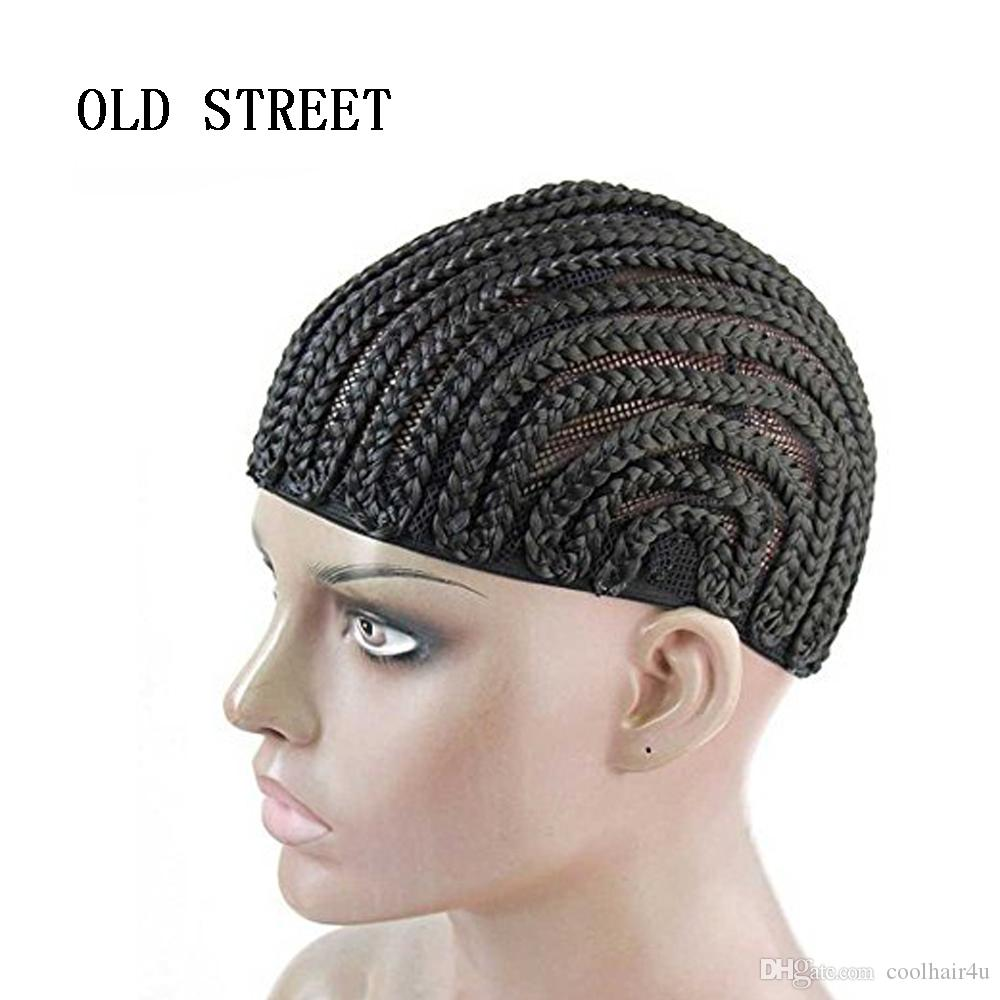 Black People Reggae Wig Cap Adjustable Crochet Braided Weaving Cap Lace Hairnet for Synthetic Hair Extensions Tutorial sale