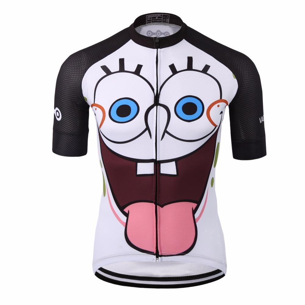2018 Unique White Sublimation Cycling Clothing Wear Full Zipper Funny  Cartoon Men Bike Shirt Quick Dry 100% Polyester Racing Ride Top Bib Shorts  Cycling ... 581a87779