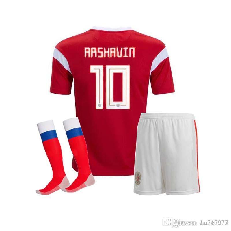 f26fb33d0 2018 world cup Russia adult kit+socks Soccer Jerseys 2018 world cup Russian  Home red Football uniform Kokorin Dzyuba Smolov Soccer Shirts