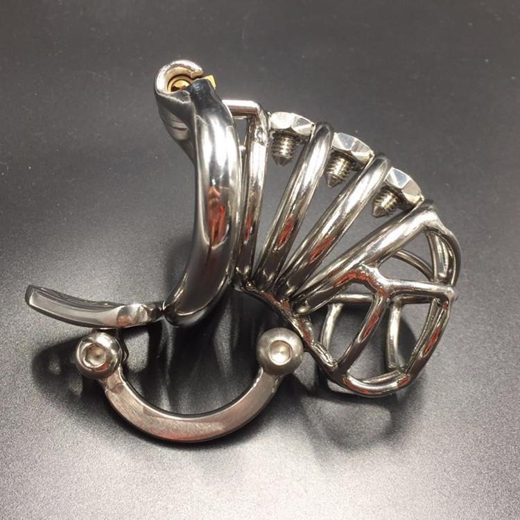 Unique Cock Cage With Ajustable Scrotal Separation Hook Stainless Steel Male Chastity Cage Spikes BDSM Chastity Device Penis Lock